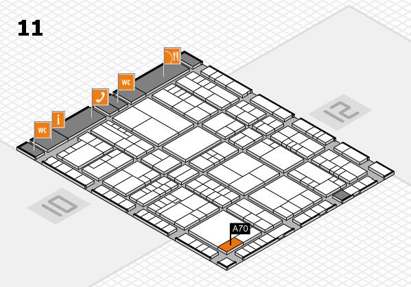 interpack 2017 Hallenplan (Halle 11): Stand A70