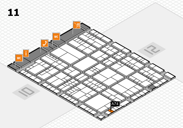 interpack 2017 hall map (Hall 11): stand A74