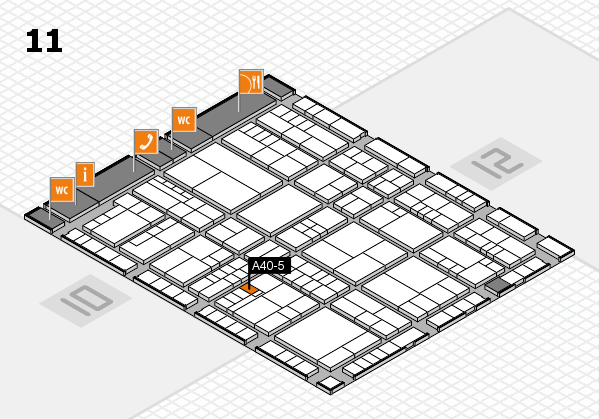 interpack 2017 hall map (Hall 11): stand A40-5