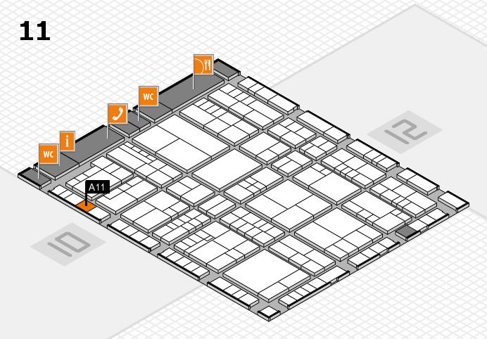 interpack 2017 Hallenplan (Halle 11): Stand A11