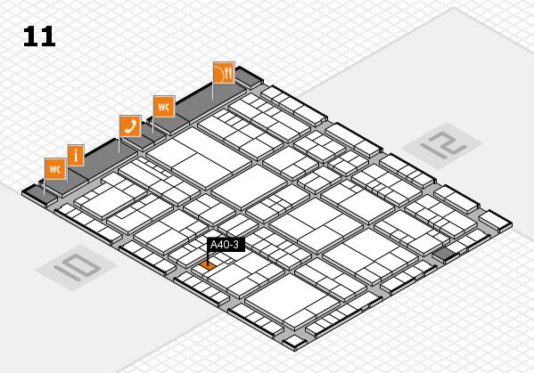 interpack 2017 Hallenplan (Halle 11): Stand A40-3