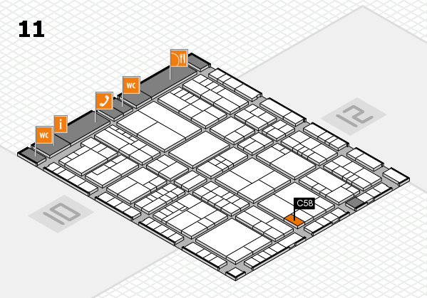 interpack 2017 hall map (Hall 11): stand C58