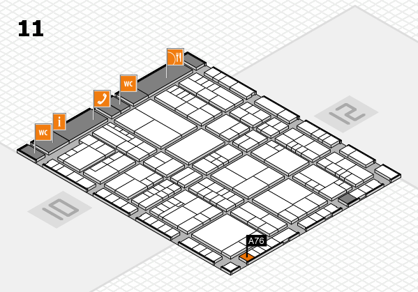 interpack 2017 hall map (Hall 11): stand A76