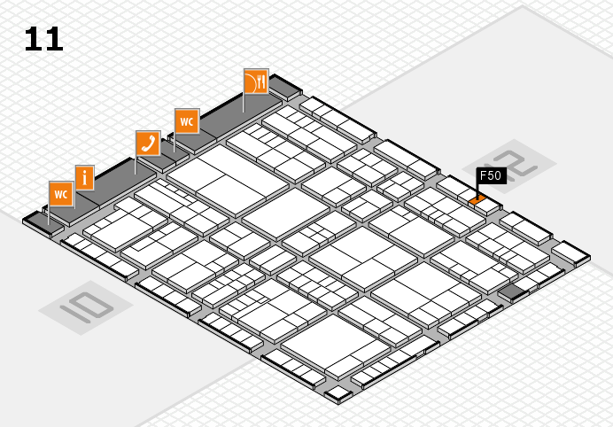 interpack 2017 hall map (Hall 11): stand F50