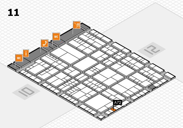interpack 2017 Hallenplan (Halle 11): Stand A72