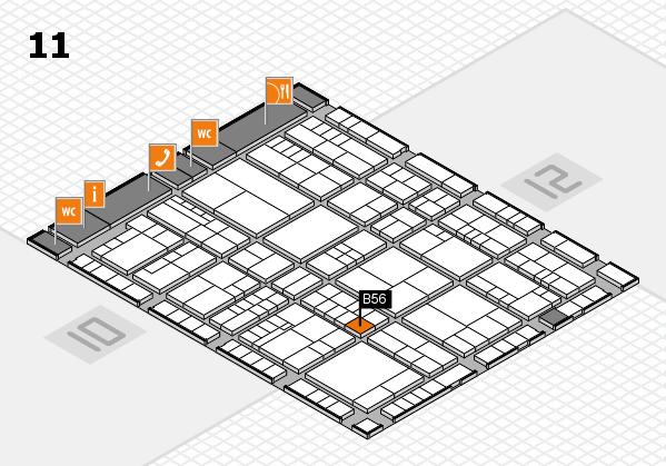interpack 2017 Hallenplan (Halle 11): Stand B56