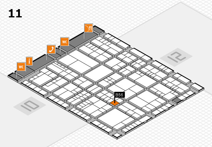 interpack 2017 hall map (Hall 11): stand B56