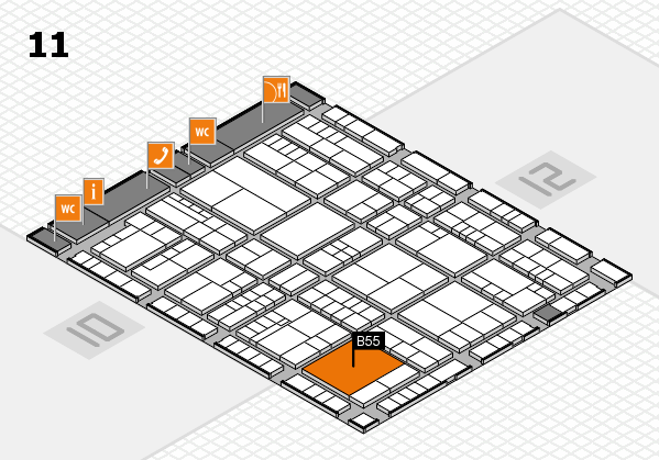 interpack 2017 hall map (Hall 11): stand B55