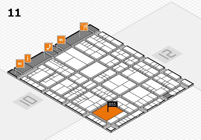 interpack 2017 Hallenplan (Halle 11): Stand B55