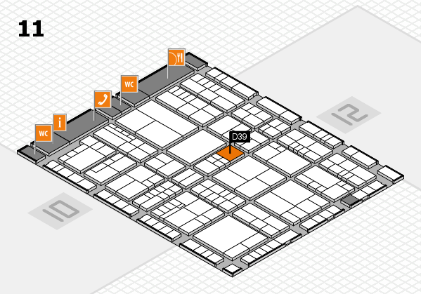 interpack 2017 Hallenplan (Halle 11): Stand D39