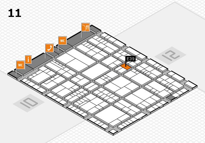 interpack 2017 Hallenplan (Halle 11): Stand E39