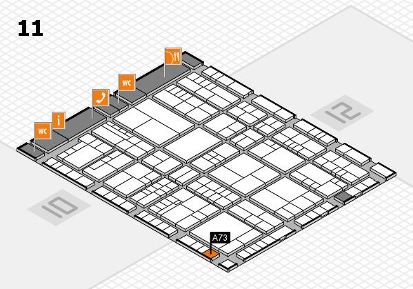 interpack 2017 Hallenplan (Halle 11): Stand A73