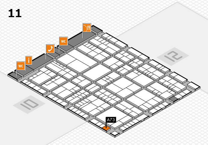 interpack 2017 hall map (Hall 11): stand A73