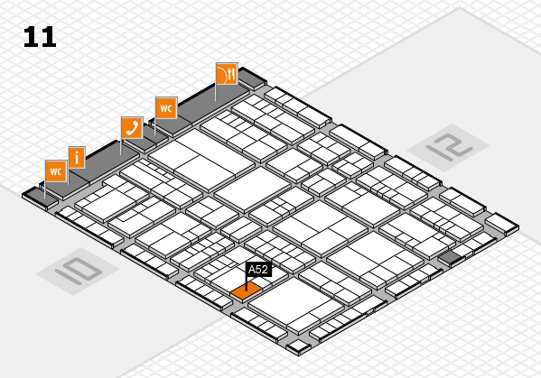 interpack 2017 hall map (Hall 11): stand A52