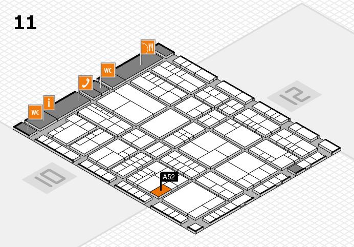 interpack 2017 Hallenplan (Halle 11): Stand A52