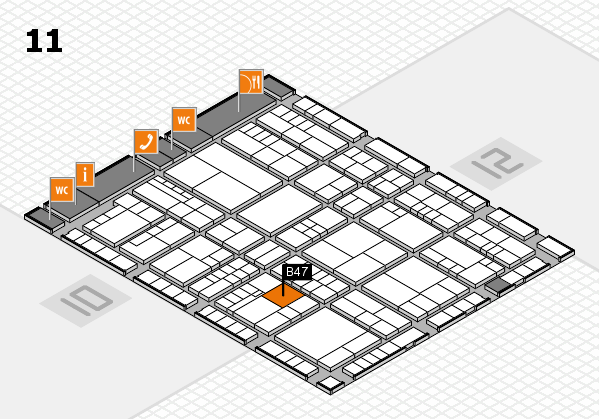interpack 2017 hall map (Hall 11): stand B47
