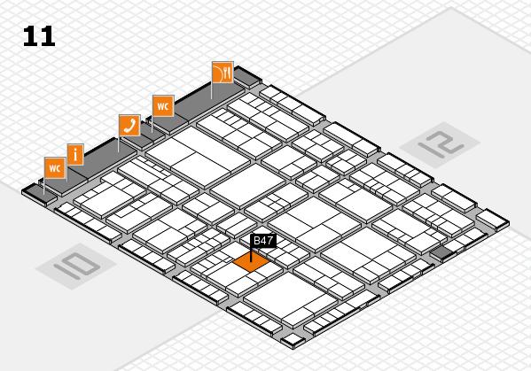 interpack 2017 Hallenplan (Halle 11): Stand B47