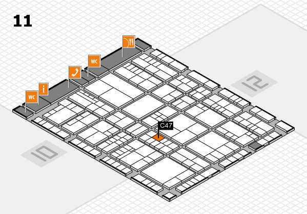 interpack 2017 hall map (Hall 11): stand C47