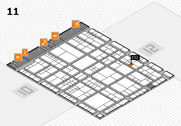 interpack 2017 hall map (Hall 11): stand E52