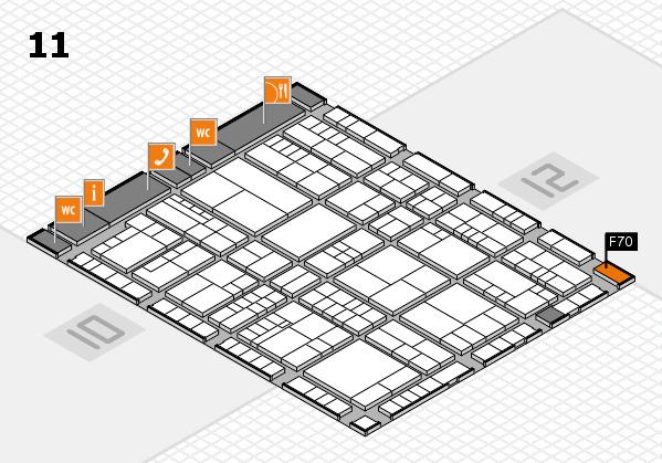 interpack 2017 Hallenplan (Halle 11): Stand F70