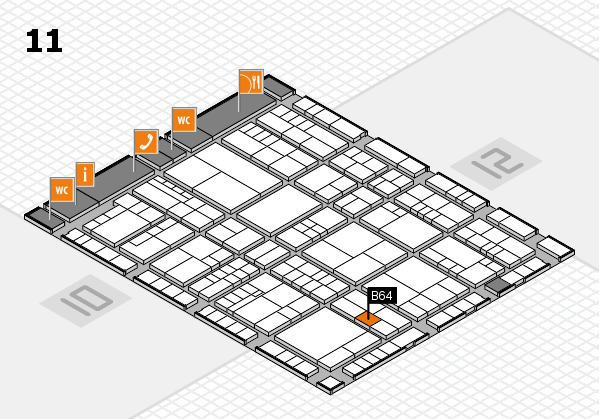 interpack 2017 hall map (Hall 11): stand B64