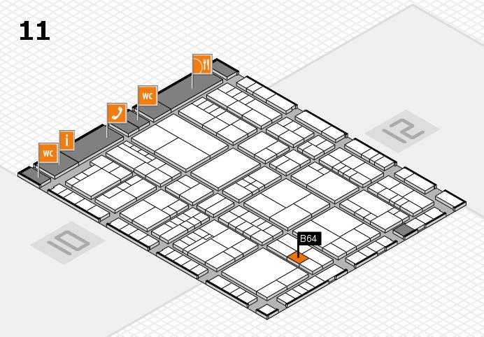 interpack 2017 Hallenplan (Halle 11): Stand B64