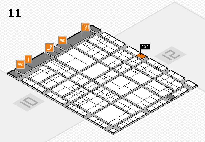 interpack 2017 Hallenplan (Halle 11): Stand F38