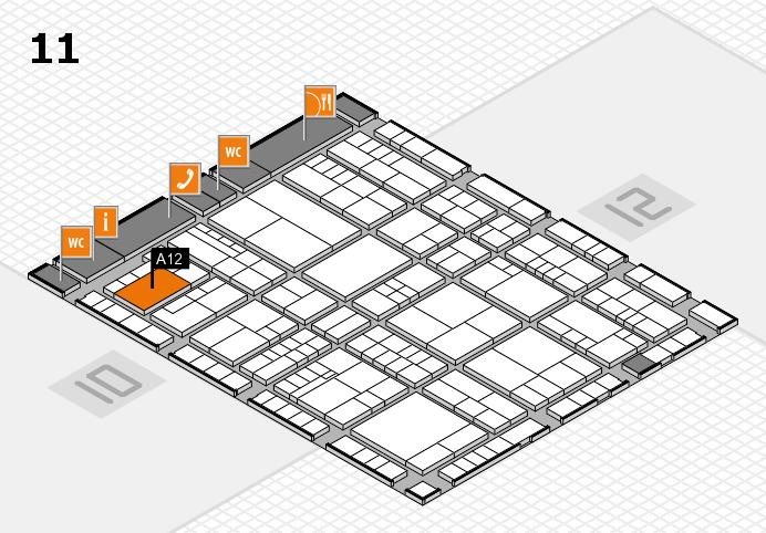 interpack 2017 Hallenplan (Halle 11): Stand A12