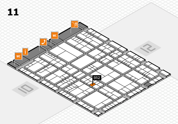 interpack 2017 hall map (Hall 11): stand B52