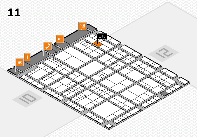 interpack 2017 hall map (Hall 11): stand E18