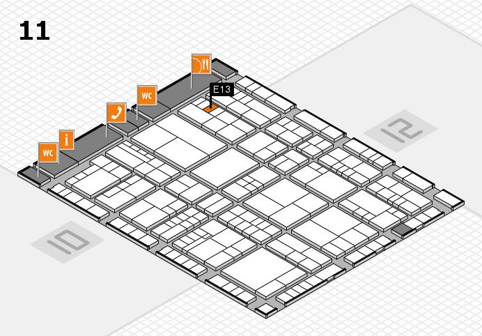 interpack 2017 Hallenplan (Halle 11): Stand E13