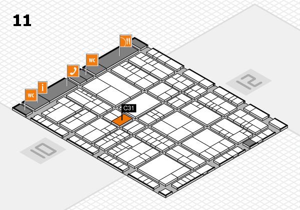 interpack 2017 Hallenplan (Halle 11): Stand C31