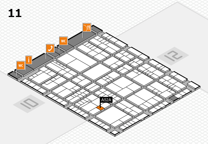 interpack 2017 Hallenplan (Halle 11): Stand A52A