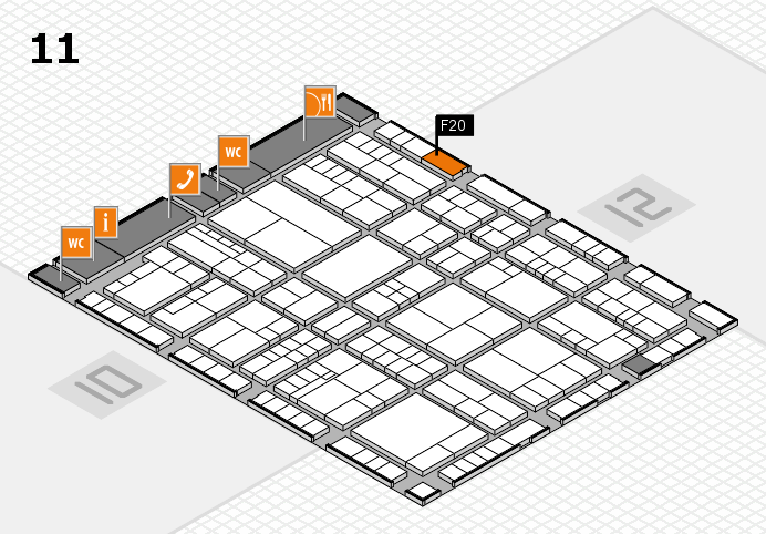 interpack 2017 hall map (Hall 11): stand F20