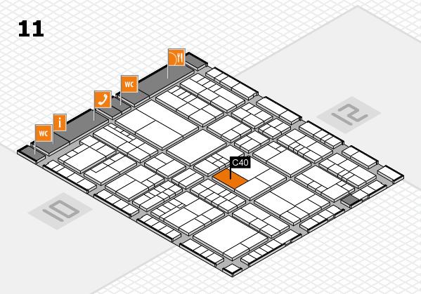 interpack 2017 Hallenplan (Halle 11): Stand C40