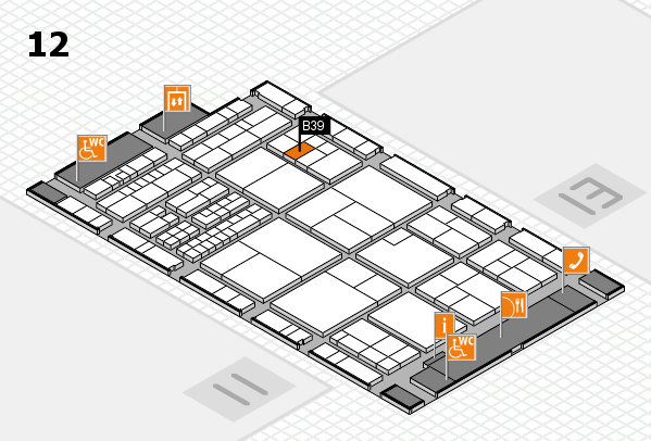interpack 2017 hall map (Hall 12): stand B39