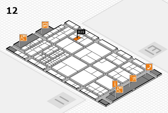 interpack 2017 Hallenplan (Halle 12): Stand B39