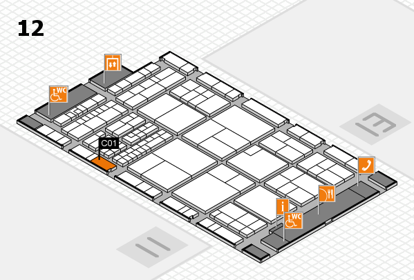 interpack 2017 hall map (Hall 12): stand C01
