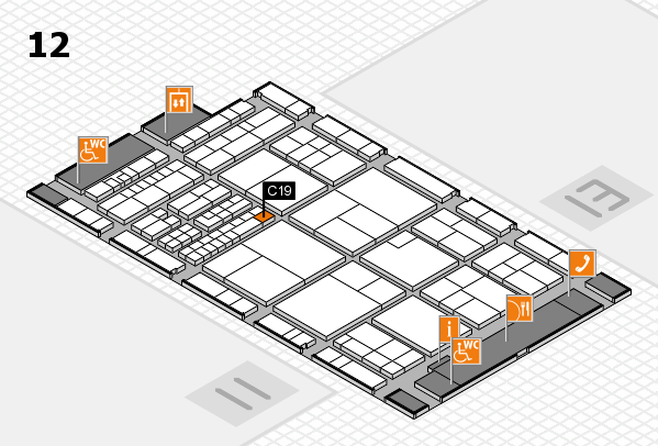 interpack 2017 hall map (Hall 12): stand C19