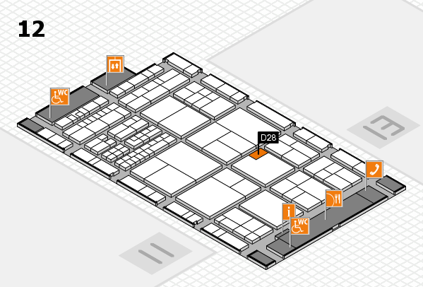 interpack 2017 hall map (Hall 12): stand D28
