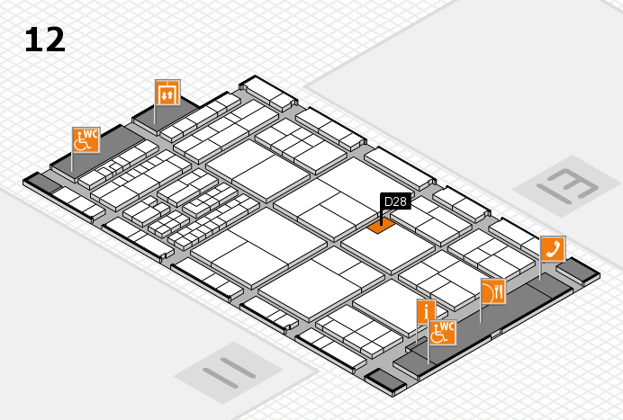 interpack 2017 Hallenplan (Halle 12): Stand D28