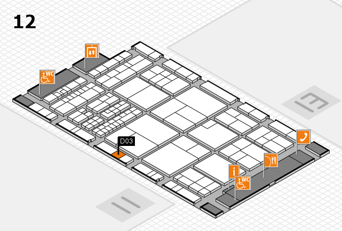 interpack 2017 hall map (Hall 12): stand D03