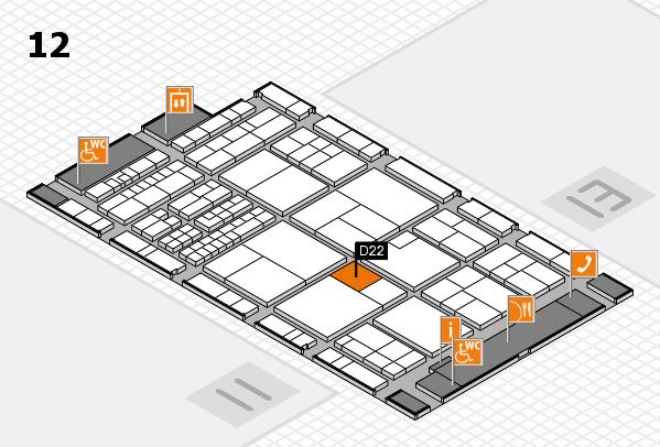 interpack 2017 Hallenplan (Halle 12): Stand D22