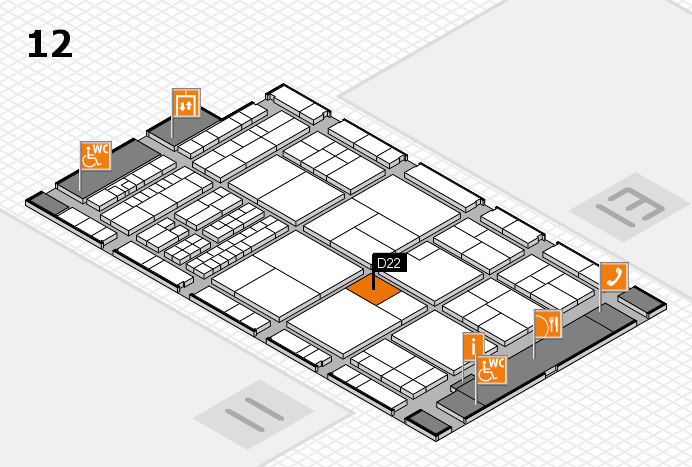 interpack 2017 hall map (Hall 12): stand D22
