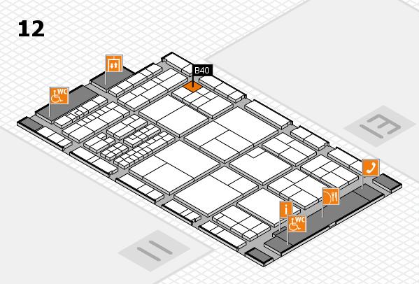 interpack 2017 Hallenplan (Halle 12): Stand B40