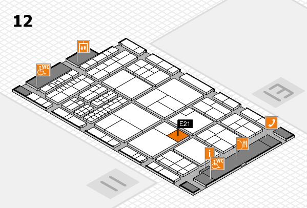interpack 2017 Hallenplan (Halle 12): Stand E21