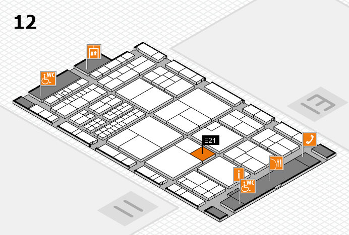 interpack 2017 hall map (Hall 12): stand E21