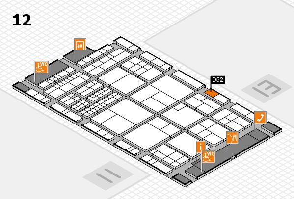 interpack 2017 Hallenplan (Halle 12): Stand D52