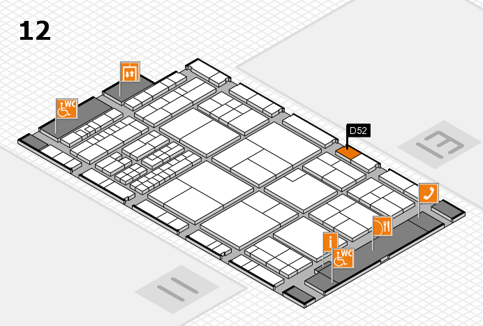 interpack 2017 hall map (Hall 12): stand D52