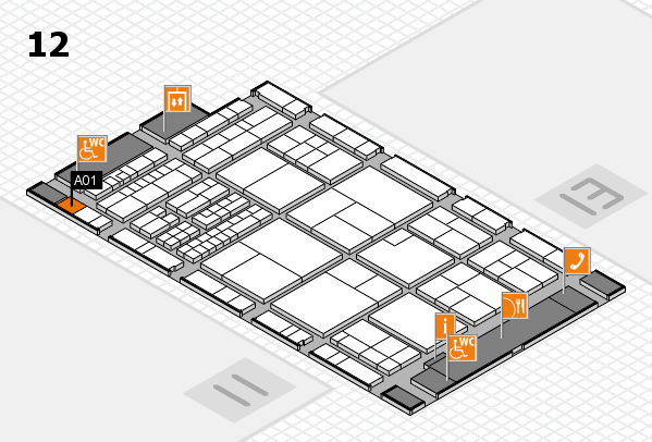 interpack 2017 hall map (Hall 12): stand A01